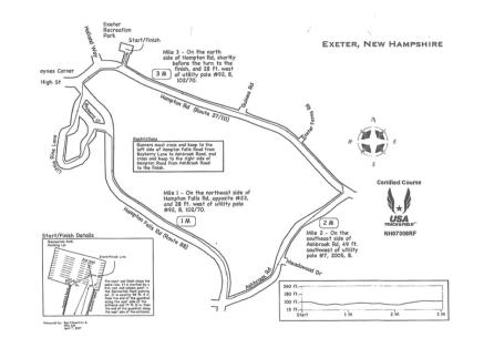 Dan Healy Foundation 5K Course Map